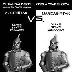 """""""Mardaristak"""" eta """"Areitistak"""" ariko dira bihar Durangon"""