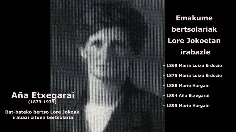 Maria Luixa Erdozio, Marie Hargain eta Aña Etxegarai:  bertsolari 'txapeldunak' XX. mende atarian
