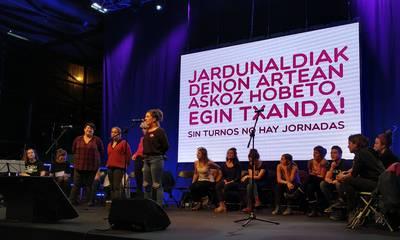 Kopla saioa Jardunaldi Feministan Durangon