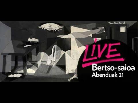 'Hustuari Hitzak' bertso performanzea Guggenheim museotik