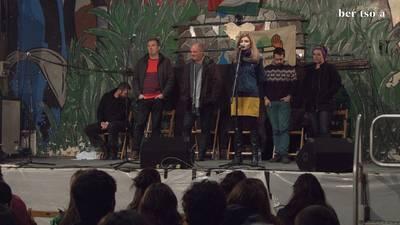 Oihana Iguaran, Andoni Egaña, Jon Maia, Beñat Gaztelumendi eta Alaia Martin. Berritzearen premiari buruz.