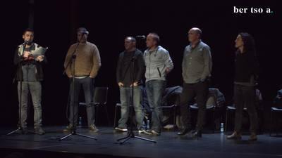 Maialen Lujanbio, Unai Agirre, Iker Zubeldia, Andoni Egaña eta Aitor Sarriegi. Aretoaren kudeaketa